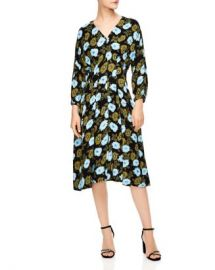 Sandro Fraternite Floral Midi Dress Women - Bloomingdale s at Bloomingdales