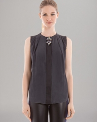 Sandro Gemstone Brooch Top at Bloomingdales