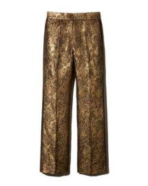 Sandro Goldy Brocade Cropped Pants Women - Bloomingdale s at Bloomingdales