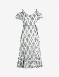 Sandro Lace Cold Shoulder Dress at Selfridges