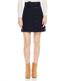 Sandro Laurene Belted Skirt Women - Bloomingdale s at Bloomingdales