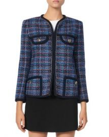 Sandro Liman Plaid Tweed Jacket Women - Bloomingdale s at Bloomingdales