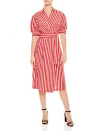 Sandro Loreta Belted Striped Midi Dress   Bloomingdale  39 s at Bloomingdales