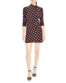 Sandro Mareva Tie-Neck Silk Dress at Bloomingdales