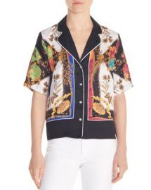 Sandro Maxence Printed Lapeled Shirt Women - Bloomingdale s at Bloomingdales