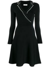 Sandro Paris faux-pearl Trim Dress - Farfetch at Farfetch