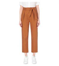 Sandro Paz High Rise Pants Orange at Bloomingdales