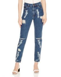 Sandro Rebecca Lightning Bolt Graphic Jeans Women - Bloomingdale s at Bloomingdales