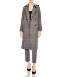 Sandro Roselier Plaid Trench Coat at Bloomingdales