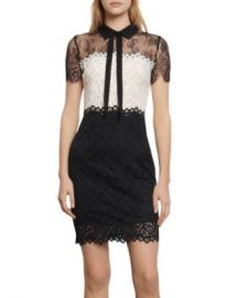 Sandro Rozen Two-Tone Lace Mini Dress Women - Bloomingdale s at Bloomingdales