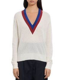 Sandro Shena Varsity-Style Sweater Women - Bloomingdale s at Bloomingdales