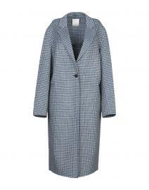 Sandro Sky Blue Coat at Yoox