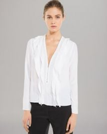 Sandro Top - Epicure Solid Zip Front at Bloomingdales