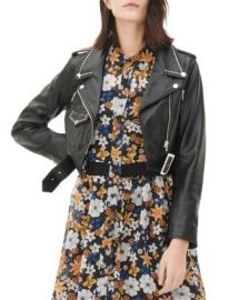Sandro Vegas Studded Leather Jacket at Bloomingdales