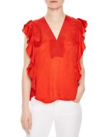 Sandro Venice Ruffled Top at Bloomingdales