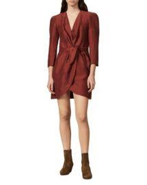 Sandro Vera Mini Wrap Dress Women - Bloomingdale s at Bloomingdales
