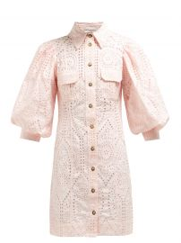 Sandrose Broderie-Anglaise Mini dress by Ganni at Matches