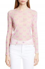 Sandy Liang Peel Butterfly Print Sheer Top   Nordstrom at Nordstrom