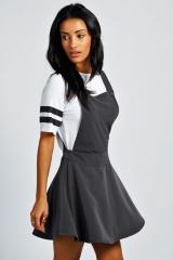 Sandy Pinafore Dress at Boohoo
