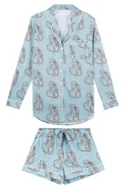Sansindo Tiger Print Short Luxury Pyjama Set at Desmond and Dempsey