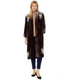 Santal Velvet Kimono Coat at Zappos