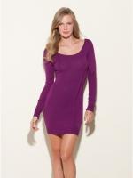 Santanas purple longsleeve dress at Guess