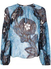 Sanya key-hole blouse at Farfetch