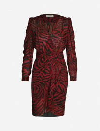 Saphir animal-print chiffon midi dress at Selfridges