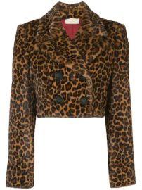 Sara Battaglia Cropped faux-fur Jacket - Farfetch at Farfetch
