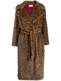 Sara Battaglia Leopard Print Belted Coat - Farfetch at Farfetch