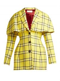 Sara Battaglia Single-breasted cape-back wool blazer  at Matches