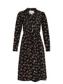Sarah Tarzan Leopard-print silk dress at Matches
