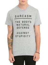 Sarcasm Defense T-shirt at Hot Topic
