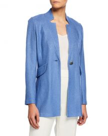 Sarga Knit Twill Notch-Collar Jacket at Last Call