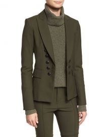 Sarin Double-Breasted Stretch Blazer by Veronica Beard at Neiman Marcus
