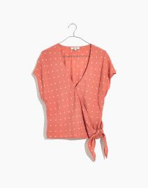 Sash Tie Wrap Top at Madewell