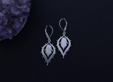 SashaBellJewelry Lotus Drop Earrings at Etsy