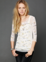 Sasha's lace floral top at Free People
