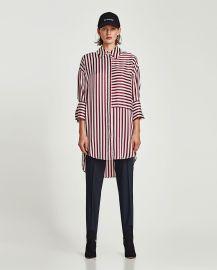 Sateen Shirt Dress at Zara