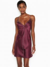 Satin & Rhinestone Slip at Victorias Secret