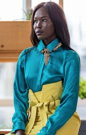 Satin Blouse by QiQee House at Qiqee Designs