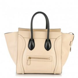 Satin Calfskin Mini Luggage by Celine at Celine