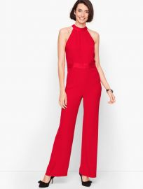 Satin Crepe Halter Jumpsuit by Talbots at Talbots