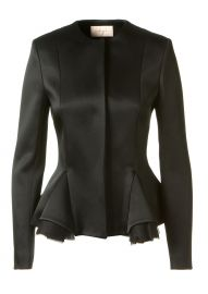 Satin Peplum Jacket by Christopher Kane at Montaigne Market