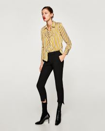Satin Shirt with Front Detail by Zara at Zara