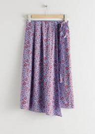 Satin Tie Midi Wrap Skirt at & Other Stories