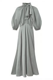 Satin Tie Neck Dress at Orchard Mile
