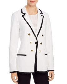 Satin-Trimmed Faux Double-Breasted Blazer by Calvin Klein at Bloomingdales