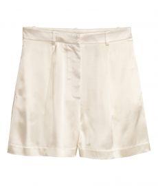 Satin shorts at H&M