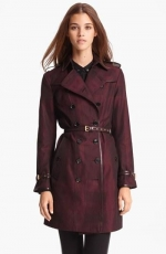Satin trench coat by Burberry at Nordstrom